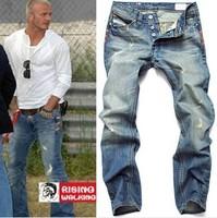 Free Shipping Italy brand retail(1piece) fashion 2013 high quality Nostalgic retro beggar hole cotton DI brand men's jeans #8873