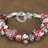 Free shipping fashion Diamant beads and crystal beads made bracelets bangles glaze real glass Beads jewelry bracelet