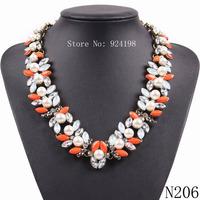 New Arrival fashion Z bib collar necklace & pendant chunky luxury bubble pearl pendant choker Necklace statement jewelry women
