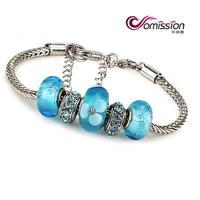 Free shipping simple three beads crystal beads Glass Bead Bracelet bracelets bangles glaze real glass Beads jewelry bracelet