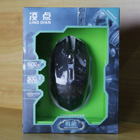 USB Wired Optical Computer Gaming Mouse, 1600DPI LED Light Luminous For Desktop Laptop