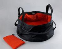 Outdoor brand travel tourism super light folding lavatory basin bucket Qordura fabric water bag