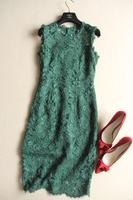 relief back crochet lace bow sleeveless slim tank dress