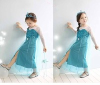 new fashion summer frozen princess dress girl dress brand children casual fashion kids clothes party Free shipping