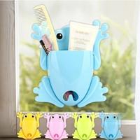H019 creative household storage rack frog shape Toothbrush holder 95g barrel racks can be linked to creativity