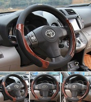 SALE Top quality PU Leather Car Steering Wheel Covers for 95% car styling kia rio skoda ford momo nissan note cruze Toyota