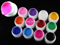 Hot Sale ! Pure Color  Nail Art UV Gel 12colors 100% Excellent Quality COCO Product For .Beauty Salon Nails Desgin 669