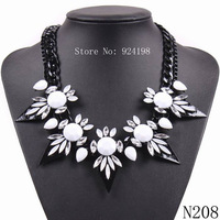 fashion 2014 new arrival brand chunky statement spike choker black chain necklace for women jewelry