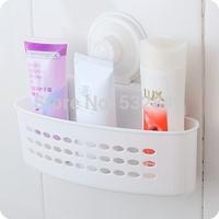 Free Shipping Derlook Japanese Style Bathroom Suction Cup Shelf Finishing Frame Storage Rack