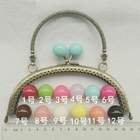 Track Ship + 10pcs/lot DIY 16cm Candy Head Metal Purse Frame Handle for Bag Sewing Craft Tailor Sewer