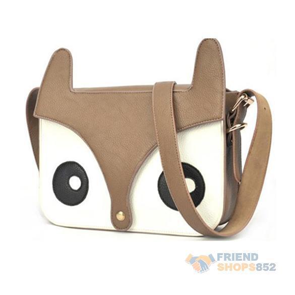 New PU Leather Naughty Little Fox Bag Girl Retro Cute Shoulder Bag Fashion F#OS(China (Mainland))