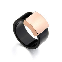 Free Shipping Wholesale Rigant Italina Brand champagne gold rings for men black,16,black men ring