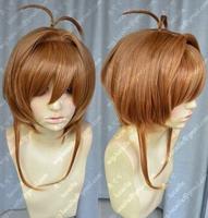 Cosplay Magic card girl cherry/Sakura Kinomoto Golden brown Wig