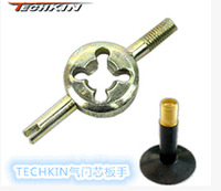40531 new arrive hot sales TECHKIN bicycle bike valve key valve wrench valve core wrench valve spanner wrench American tube