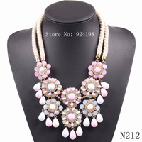 New 2014 chunky choker statement necklace for female party fashion white resin rope chain JC Necklace & pendant