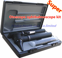 Free shiping professional portable otoscope ophthalmoscope kit fiber Optic otoscope direct ophthalmoscope medical eye ear care