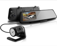 2014 car Mirror DVR 6000C Dual Lens Camera +Motion Detection+Loop Recording+ G-Senser+Night Vision car rearview camera