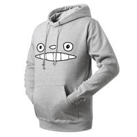 Free shipping 2014 new men sweater hoodie sweater men sportswear Totoro cartoon funny expression assassins creed man hoodys