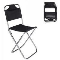 Free Shipping   New Portable Folding Chair Aluminum Camping Fishing Chair with Backrest Carry Bag Black Chairs