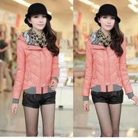 Lanluu New Top Trendy Winter Autum Coat 2014 Women Slim Short Down Parkas Jackets 4 Colors 5 Size SQ568