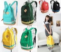 Boys Girls Canvas Rucksack Sports Travel School Bags Backpack 7 Colors