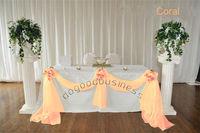 1 Coral  organza sheer fabrics for curtain/crystal organza material for wedding backdrops decor(21 color)(China (Mainland))