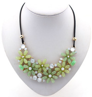 Sunshine jewelry store Bohemian Necklaces & Pendants Europe Elegant Candy Color Flower Collar Statement Necklace For Women