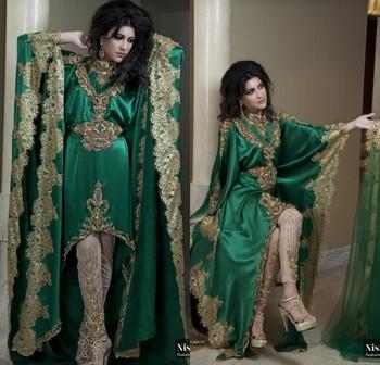 2014 Hot Sale Appliqued Hi-Lo kaftan islamic clothing pakistani new