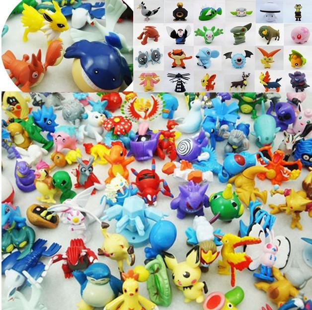 Wholesale Mixed Lots 24pcs Pokemon Mini Random Pearl Figures New Hot Kids Toy(China (Mainland))