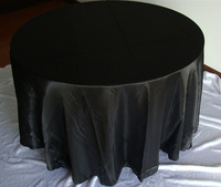 """free shipping 10pcs round 108"""" black  dining table cloth"""