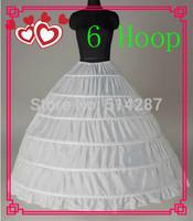 2015 New Fashion 6 Hoop Long A Line Petticoat Women Underskirt For Girl Wedding Accessories 2014