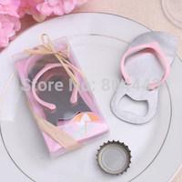 Free shipping 100pcs/lot wedding favor pink flip-flop bottle opener by FEDEX