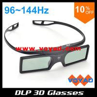 Latest Lightest universal DLP 3D Active Shutter Glasses (4pcs/lot) work for all dlp 3d projectors and TVs free ship