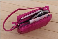 free shipping 2014 zipper lovely High capacity coin purses women's cheap bag can keep iphone