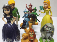 factory direct sale! (6 pieces/lot) Princess Sofia PVC Action Figure Toys Doll/Gift for Kids/Collections