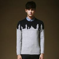2015 New Arrival Korean Version Casual Men Splicing  Pullover Sweater Autumn Winter Wear  MZY019