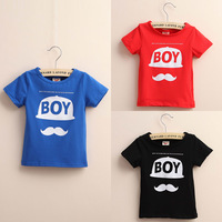 Wholesale 2014 New Arrival Baby Short Sleeve Letter Design T Shirt Children Fashion Korean Style Tops Tees