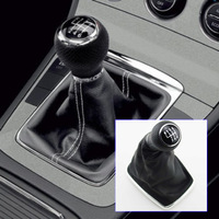 For VW Jetta Bora MK4 Leatherette 6-speed Shift Knob Gear Cover Black Gear Shift Collars For Golf MK4 Gaitor Boot