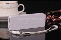 2pcs 5600mAh USB External Backup Battery Lithium Polymer Charger Power Bank Super slim Mobile Powe