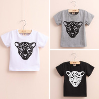 Wholesale 2014 New Arrival Short Sleeve Cartoon T Shirt Children Fashion Print Tops Tee
