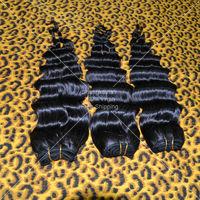 Free Shipping!!! Brazilian Virgin Hair Deep Wave 3pcs Natural Black 5A Unprocessed Cheap Human Hair Weave Rosa Hair Products