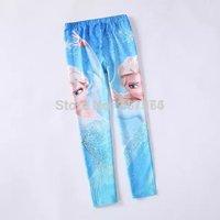 Girls Elsa Frozen Tight Pants Children Leggings Long Pants 4 Designs Frozen Leggings for Kids 6pcs/lot Free Ship