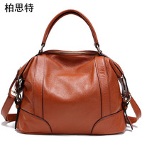 The spring of 2014 the new leather female baotou layer cow leather bag lady hand the bill of lading shoulder bag RL068