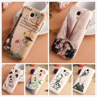 Cartoon Design Accessories Rubber TPU Silicone Skin Protector Back Cover Case For Samsung Galaxy S4 Mini i9190 i9195 New Arrive