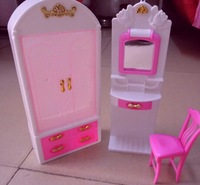 Free shipping,new 2014,European-style furniture accessories,wardrobe+dresser+chair 3 items/set for dolls