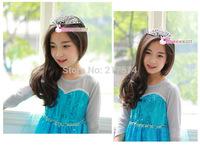 Frozen Elsa Diamond Queen Crown Plum Hair Jewelry Wholesale Children Elsa Cosplay Crown 10pcs/lot Fast Shipping
