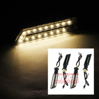 4 x Motorcycle Hollow Knife Rectangle 18 LED Turn Signals Light Blinker Amber Indicator Tail Bulb #3450*4
