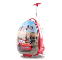 2014 Cute vivid 13'' Cartoon Kid  hardside school bag  17'' Kid rolling luggage Children travel suitcase backpack