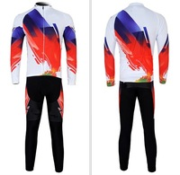 NAILI white red Cycling Jersey Winter Fleece Thermal Long Sleeve bike Jersey cycling clothes + pants wear set