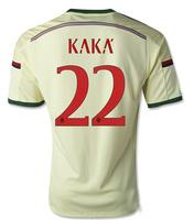 14-15 AC miland jersey AAA+++thailand Ac milan away  KAKA  NO.22 jersey,customized name number AC miland home soccer jersey